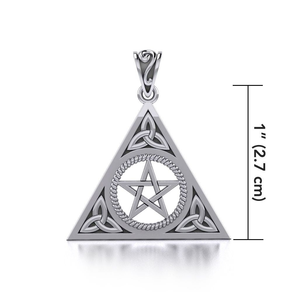 Celtic Triquetra Trinity Knot .925 Sterling Silver Necklace by Peter Stone