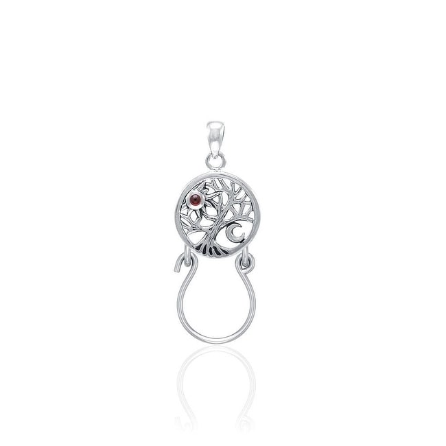 CHARM CARRIER PENDANT 925 STERLING SILVER