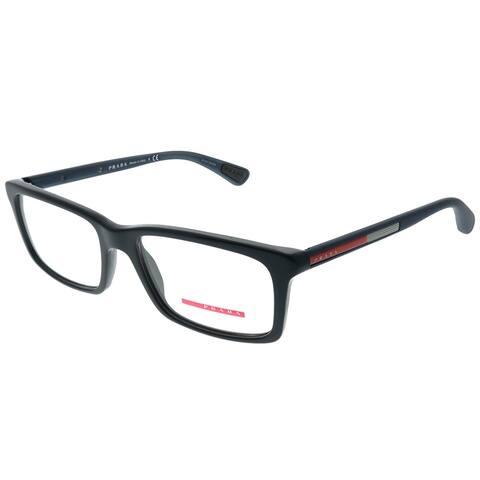 Prada Linea Rossa PS 02CV 392101 Unisex Blue Plastic Frame 55-millimeter Eyeglasses
