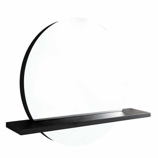 """Solace 28"""" Mirror and Shelf in Midnight Oak"""