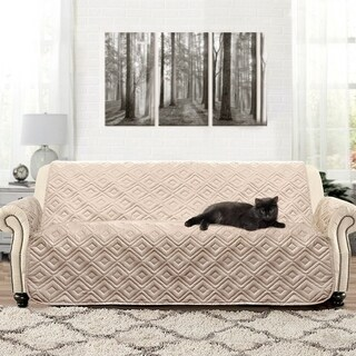 DriftAway Marley 100% Waterproof Quilted Machine-Washable Sofa Furniture Protector in Beige (As Is Item)