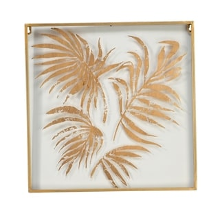 Gold Palm Square Wall Decor