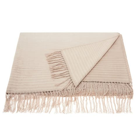 Mina Victory Ombre Striped Throw Blanket