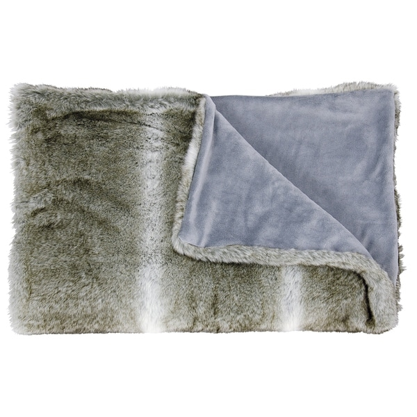 Mina Victory Faux Wolf Throw Blanket. Opens flyout.