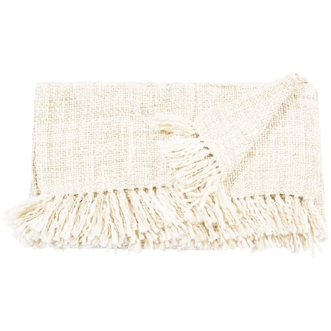 The Curated Nomad Alexandria Basket Weave Throw Blanket
