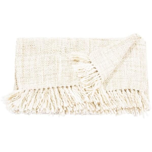 Mina Victory Basket Weave Throw Blanket