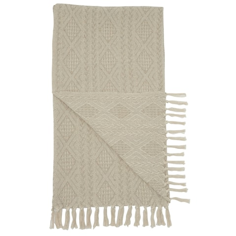Mina Victory Knit Diamond Throw Blanket