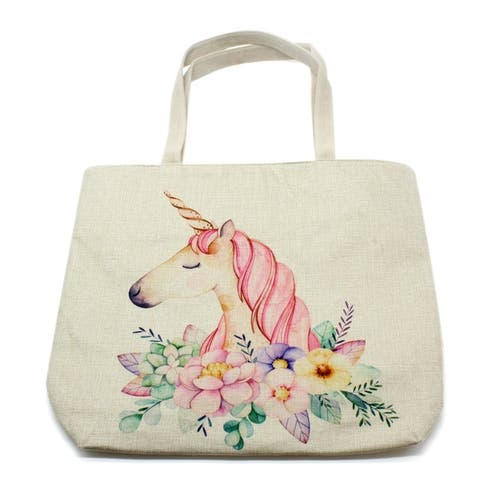 Adorable Cotton Character Tote Bags