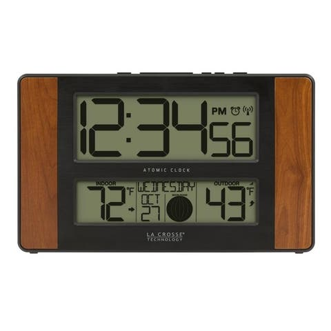 La Crosse Technology 513-1417CH Atomic Digital Clock with Temperature