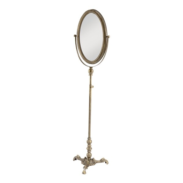 Shop Oval Antiqued Floor Mirror Antique Gold Free