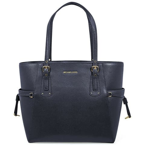 0d1c5fe8678c MICHAEL Michael Kors Voyager East West Crossgrain Leather Tote Admiral