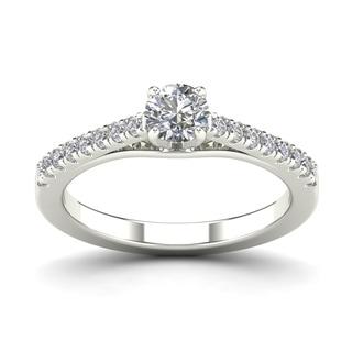 AALILLY 14k White Gold 3/4ct TDW Diamond Engagement Ring (H-I, I1-I2)