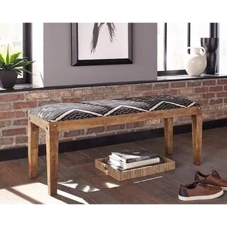 Mariah Upholstered Mango Wood Bench