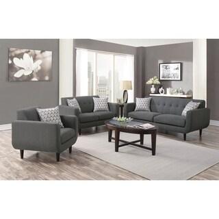 Baxter Mid-century Modern 3-piece Living Room Set