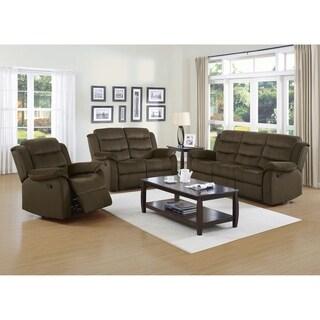 Salem Chocolate 2-piece Reclining Living Room Set