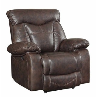 Julia Dark Brown Casual Glider Recliner