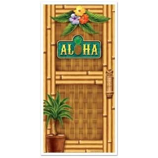 "Beistle 30"" x 5' Luau Aloha Hanging Decorative Door Cover - 12 Pack (1/Pkg)"