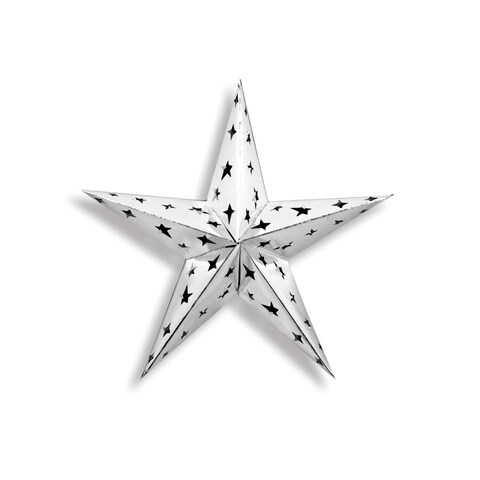 """Beistle 12"""" General Occasion Party Novelty Dimensional Foil Star, Silver - 12 Pack (1/Pkg)"""