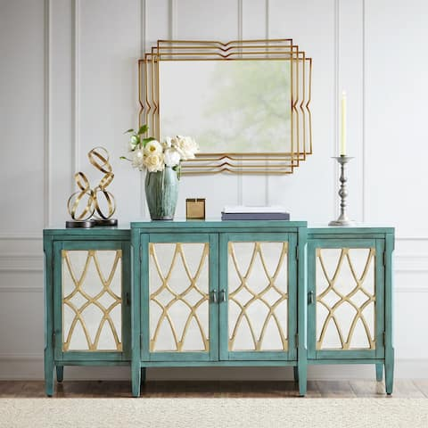 Madison Park Farren Antique Blue-Green Buffet