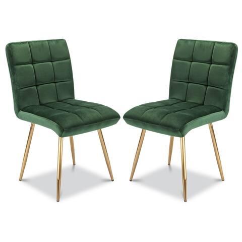 EdgeMod Chelsea Velvet Dining Chair (Set of 2)