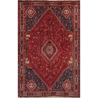"Abadeh Geometric Hand-Knotted Wool Persian Oriental Area Rug - 8'2"" x 5'3"""