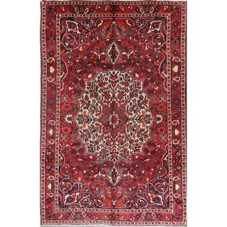 "Bakhtiari Geometric Hand-Knotted Wool Persian Oriental Area Rug - 9'11"" x 6'6"""