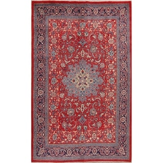 "Mahal Geometric Hand-Knotted Wool Persian Oriental Area Rug - 10'7"" x 7'2"""