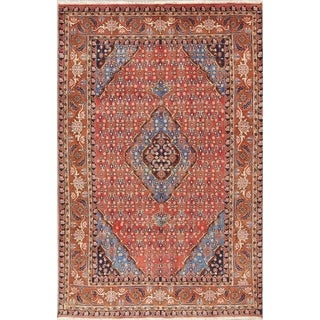"Ardebil Geometric Hand-Knotted Wool Persian Oriental Area Rug - 9'7"" x 6'3"""