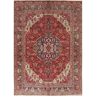 "Tabriz Geometric Hand-Knotted Wool Persian Area Oriental Rug - 9'7"" x 6'9"""