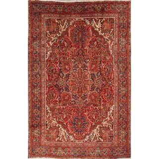 "Heriz Geometric Hand-Knotted Wool Persian Oriental Area Rug - 11'0"" x 7'8"""