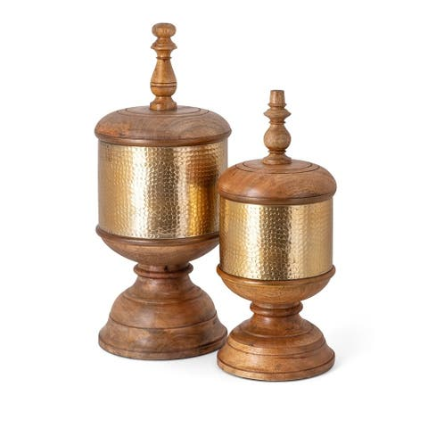 Chloris Decorative Canisters - Set of 2