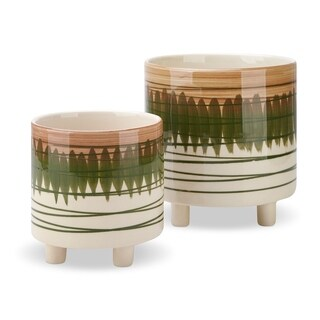 Andrei Footed Ceramic Planters - Set of 2