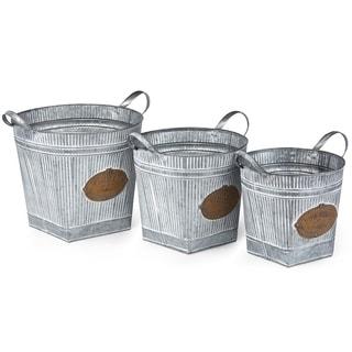 Ferdi Galvanized Planters - Set of 3
