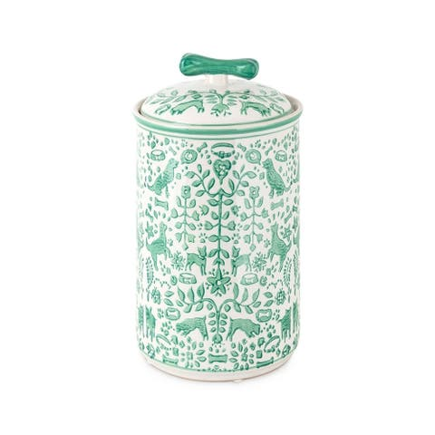 Otomi Dog Treat Handpainted Canister