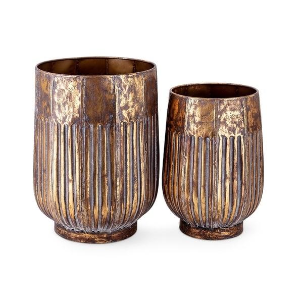 Konnie Metal Urns - Set of 2