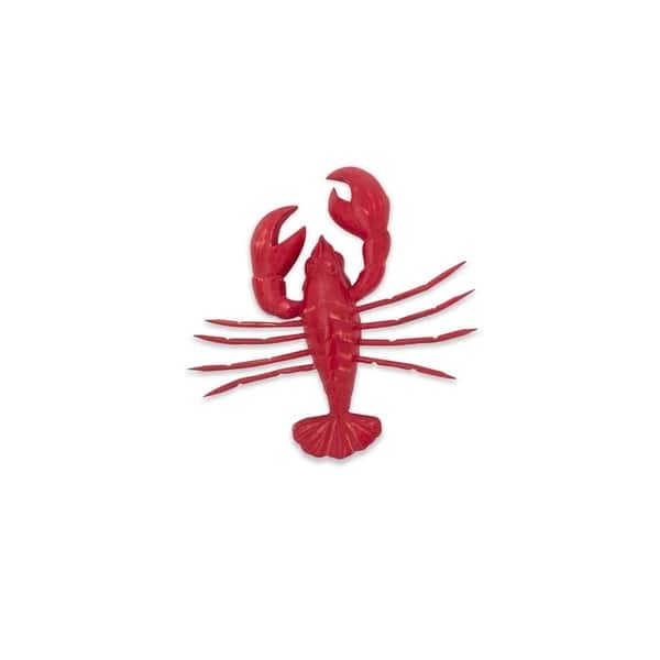 Imax Red Carved Wood Lobster Wall Decorations Set Of 3 On Sale Overstock 27758607