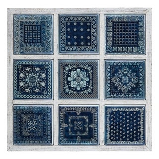 Manuel Framed Metal Tile Wall Decor