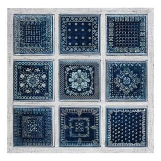 Manuel Framed Metal Tile Wall Decor