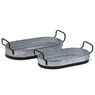 Smith Farmhouse Decorative Trays - Set of 2