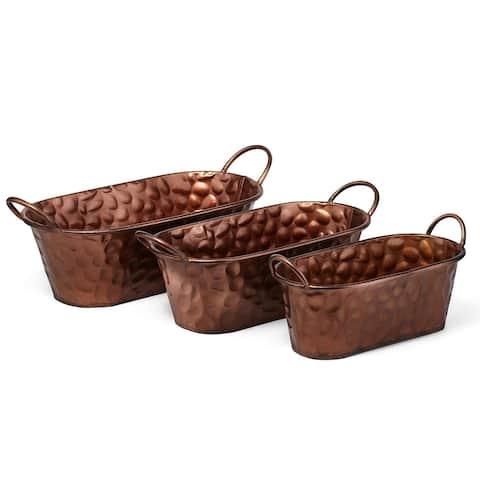 Cooper Copper Planters - Set of 3