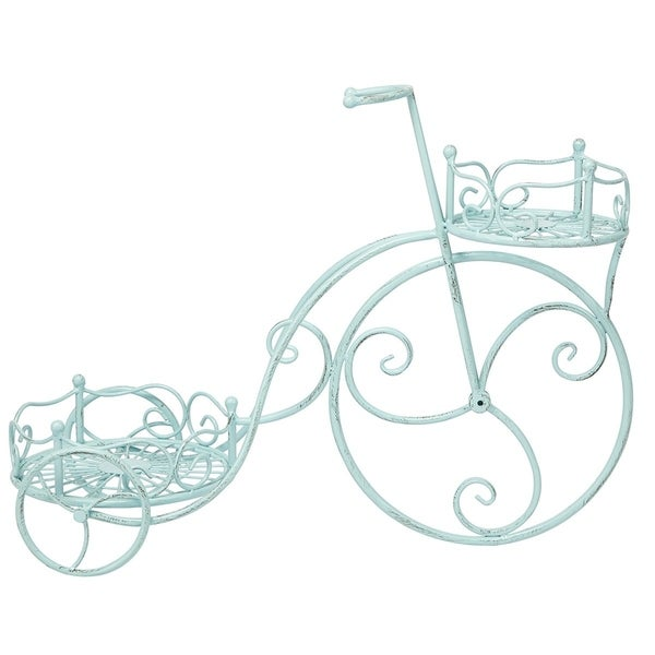 Victoria Blue Tricycle Planter
