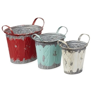 Elsie Rustic Planters - Set of 3