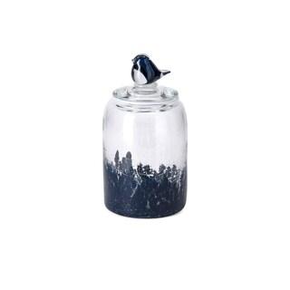 Trisha Yearwood Bluebird Small Art Glass Canister