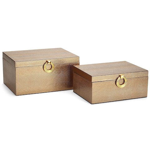 Yasmeen Brown Jewelry Boxes - Set of 2