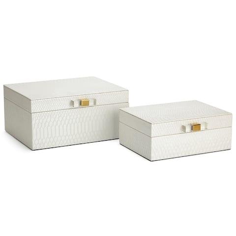 Helga White Jewelry Boxes - Set of 2