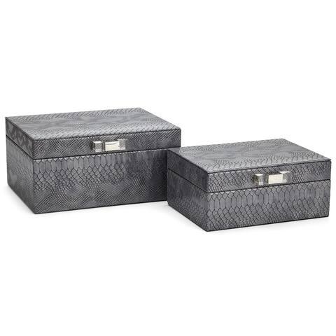 Ulises Gray Jewelry Boxes - Set of 2