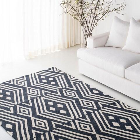 Lauren Ralph Lauren Handmade Imani Geometric Modern & Contemporary Wool Rug