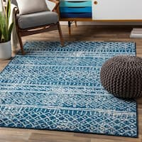 Khalid Eclectic Moroccan Stripe Area Rug