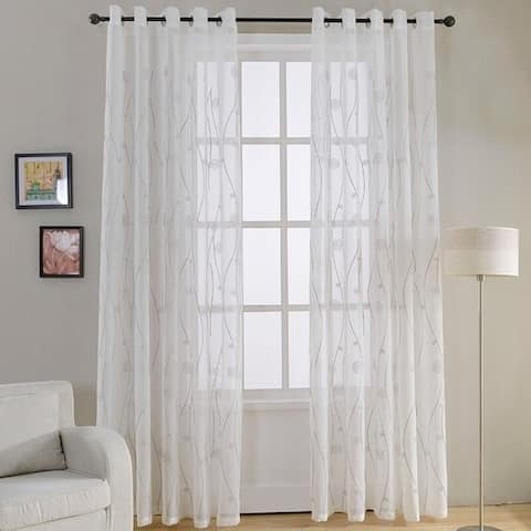 Window Privacy Curtains Sheer Panels, Naples