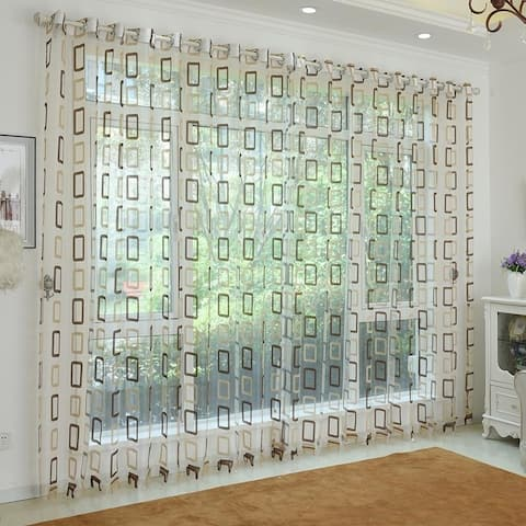Window Privacy Curtains Sheer Panels, Nice